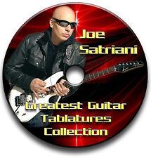60 JOE SATRIANI Rock Guitarra Tab LIBRO DE tablaturas DE CANCIONES Software CD
