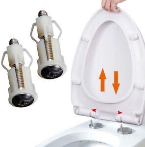 Fixation dessus de siège de toilette Charnières Vis fixation pour lunettes de WC