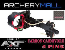AXT CARBON CARNIVORE 5 PIN SIGHT  (CARBON SIGHT) Reg. $250.00