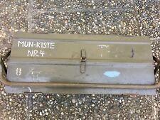Profi -Werkzeugkiste-metall- + Vorhängeschloss- ex Bundeswehr-Mun-Wart!