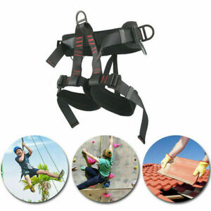 Tree Carving Rock Climbing Harness Seat Belt Equip Gear Rappel Rescue Safety US