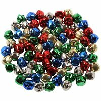 15mm Christmas Metal Jingle Bells 6 40 80 160 SILVER GOLD Sleigh CAT 5 Colours