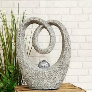 Abstract Heart Sculpture with Steel Ball Centre by Country Living