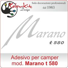Scritta adesiva per camper Marano t 580 Burstner - by Colorkit-Cod.001351