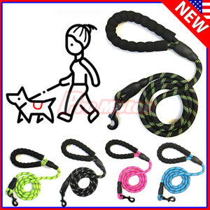 For Large Dog Puppy Walking Hiking Lead Rope Leash Reflective 5Ft Leash Service