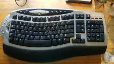 Genuine Microsoft Wireless Comfort Keyboard 1.0A Model # 1027 Black NO RECEIVER