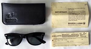 Sonnenbrille Ray-Ban Wayfarer Bausch & Lomb B&L 5024 schwarz im Etui U.S.A.