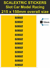 Slot car Scalextric stickers Model Race DeWALT tool Logo decal adhesive vinyl YT