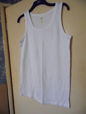 "Man's XL 40"" chest white sleeveless vest, new, 100% cotton."