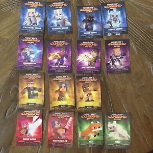 Minecraft Dungeons Arcade Set Of 15 Cards No Duplicates Excellent Condition Holo