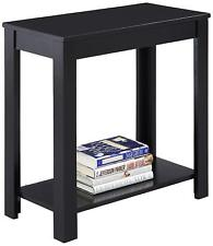 Small End Table Wood Nightstand Coffee Indoor Desk Stand Storage Shelve Black
