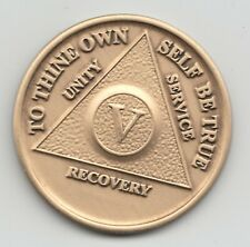 5 Years - V Years - Alcoholics Anonymous recovery medal token chip coin