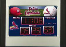 St Louis Cardinals Scoreboard Desk & Alarm Clock [NEW] NFL Watch Time Office