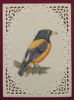 Sparrow Bird Fine Indian Mughal Painting Intricate Art Work Detail Wall Hanging