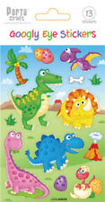 *Porta Craft * Embossed Stickers Googly Eye Dinosaurs