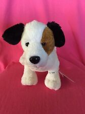 Ganz White/Brown/Black Jack Russell HM168 W/Code Plush Stuffed Animal