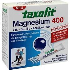 TAXOFIT Magnesium 400+B1+B6+B12+Folsäure 800 Gran. 20 St PZN 2597700