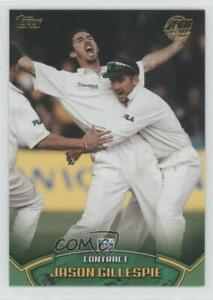 2002 Topps ACB Gold Cricket Contract Jason Gillespie #C6