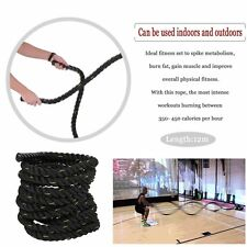 "1.5"" 40ft Poly Dacron Battle Rope Exercise Workout Strength Training UndulationE"