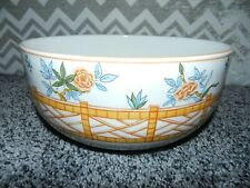 """TIFFANY & CO. CHINESE FENCE EARTHENWARE BOWL 10"""" DIAMETER x 4 1/2"""" HIGH PORTUGAL"""