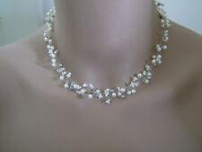Collier Crème Gris p robe de Mariée/Mariage/Soirée, perles original (pas cher)