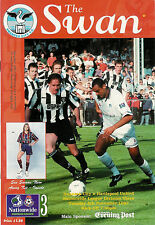 Swansea City v Hartlepool Utd 4 Nov 1997  FOOTBALL PROGRAMME