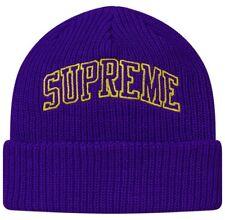 00a261263e5 SUPREME Loose Gauge Arc Beanie Black Purple box logo camp cap F W 17