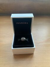 Genuine Silver Pandora Peace Sign Ball Charm With Box