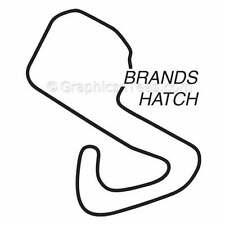 Brands Hatch Race Track Stickers, Vinyl Graphic Decals, Motor Racing, GP Circuit