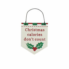 Christmas Calories Don't Count Hanging Christmas Plaque - Cracker Filler Gift