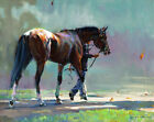 GALLERY WRAP FRAMED CANVAS PRINT PAINTING RACE HORSE FALL AUTUMN BEAUTIFUL SCENE