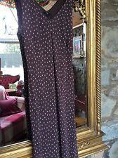 PER UNA BROWN/ PINK TRIANGLES & SQUARES MAXI LONG EVENING PARTY DRESS UK SIZE 16