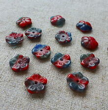 Czech glass pressed beads flowers – pack of 30