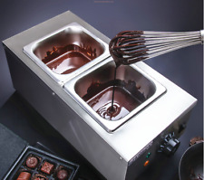 220 V 2-Tanks Chocolate Melter Melting Machine Electric Water Heating