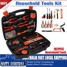 102 PCS Household Tools Home Garden Tool Set Kit Box Repair Handy Hammer Pliers