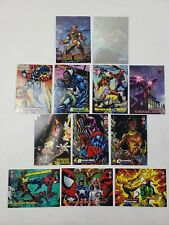 Assortment of Marvel Comics Trading Cards Lot of 12 Good Condition - 1994-1997