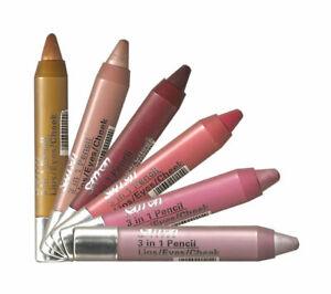 Saffron 3 in 1 Twist up Crayon, Blusher. Lipstick and Eye shadow in one