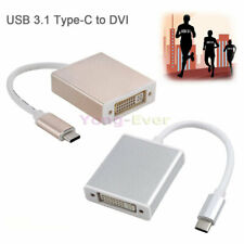 USB 3.1 Type-C to DVI Adapter Convertor Connector Cable 1080P for Mac Macbook