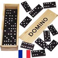 Boîte de Jeu de Domino en Bois 16 x 5 cm Set Dominos 28 pièces