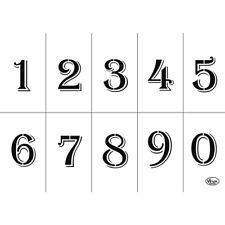 Viva Decor Universal Schablone A4 Zahlen 0-9