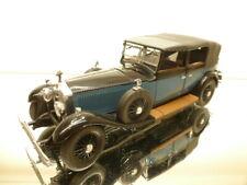 FRANKLIN MINT 1929 ROLLS ROYCE PHANTOM I - BLUE + BLACK 1:24 - GOOD CONDITION