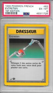 Pokemon PSA 6 EXC-MINT FRENCH 1999 1st Ed Base Entretien (Maintenance) #83 - NEW