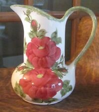CLINCHFIELD ARTWARE ERWIN TENN CASH FAMILY LARGE PITCHER RED AND GREEN