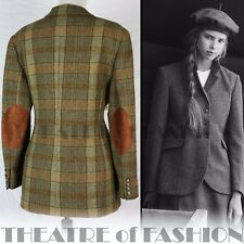 JACKET COAT TWEED VINTAGE RALPH LAUREN 12 14 16  40s VICTORIAN LADY CHATTERLEY