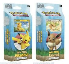 Pokemon TCG: Let's Play, Pikachu/Eevee! Theme Decks :: Both Designs :: Brand New