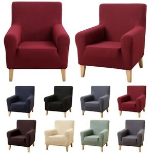Armchair Cover Stretch Jacquard Slipcover Pure Home Hotel Block Chair Cover