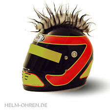 Helmirokese/ Helm Iro/ Irokese/ Helmaufsatz -für Motorradhelm -Weiß  mit Schwarz