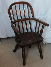 Antique Windsor Winsor Style Childs Primitive Wood Chair