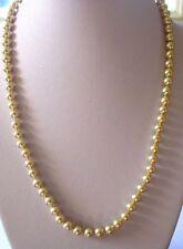 collier bijou vintage perles nacrées  blanches 3434