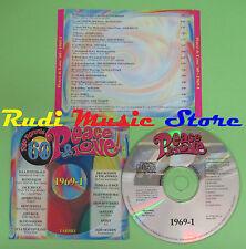 CD PEACE & LOVE 60 1969 1 compilation PROMO 2000 FITZGERALD SANTANA ANIMALS(C17)